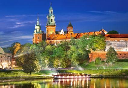 Вавельский замок ночью, Польша Castor Land 103027