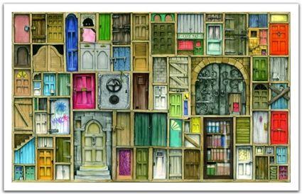 Пазл 1000 деталей К.Томпсон. Закрытые двери Pintoo (1201)