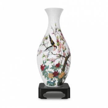 Пазлы Pintoo. Ваза 3D + стакан Птицы и цветы. 1001