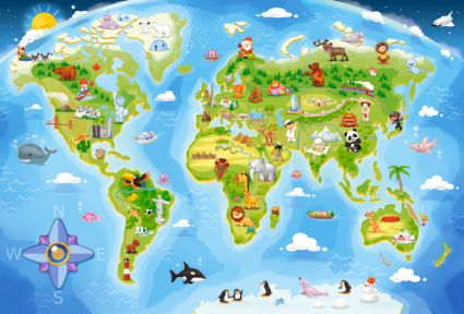040117 MAXI Карта мира