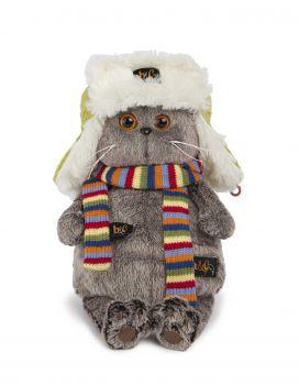 Басик в зимней шапке 25см 25-033