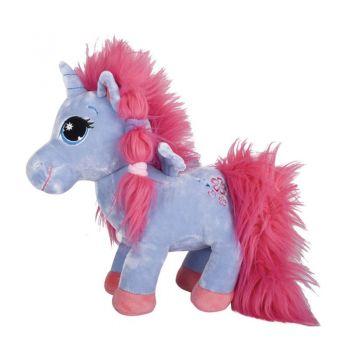 Единорог сиреневый с пушистой розовой гр 7-52990