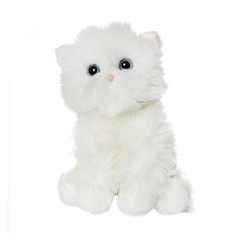 Белый котик пушистый 23см 50-85013W
