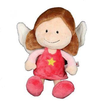 Ангел-хранитель розовый,сидчий,25см 37333