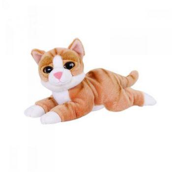 Котик лежачий серый Глазастик 25см 7-63602G
