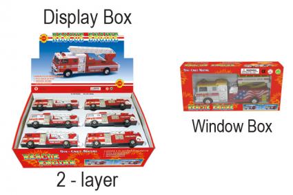 А/м пожар.служба   700/701, инерц, откр двери, двигающ части кузова, 18 см, металл, пластик