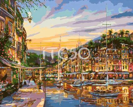 """Картины по номерам """"""""Вечернее Монако"""""""" A377"""