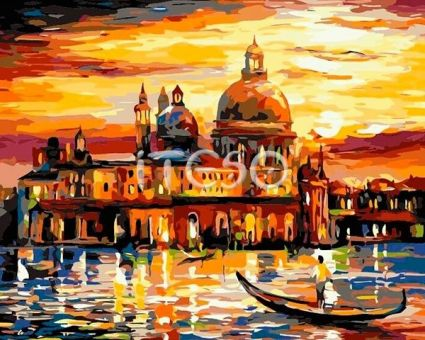 "Картины по номерам """"Венецианский закат"""" A404i"