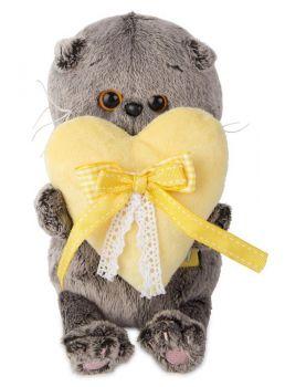 Басик BABY с сердечком  игрушка мягкая ВВ-006