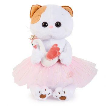 Кошечка Ли-Ли балерина с лебедем 24см