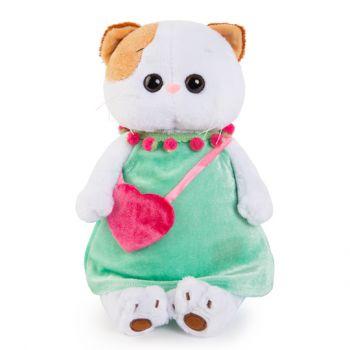 Кошечка Ли-Ли в мятном платье с розовой сумочкой 27см