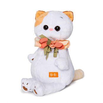 Кошечка Ли-Ли с цветами из шёлка 24см